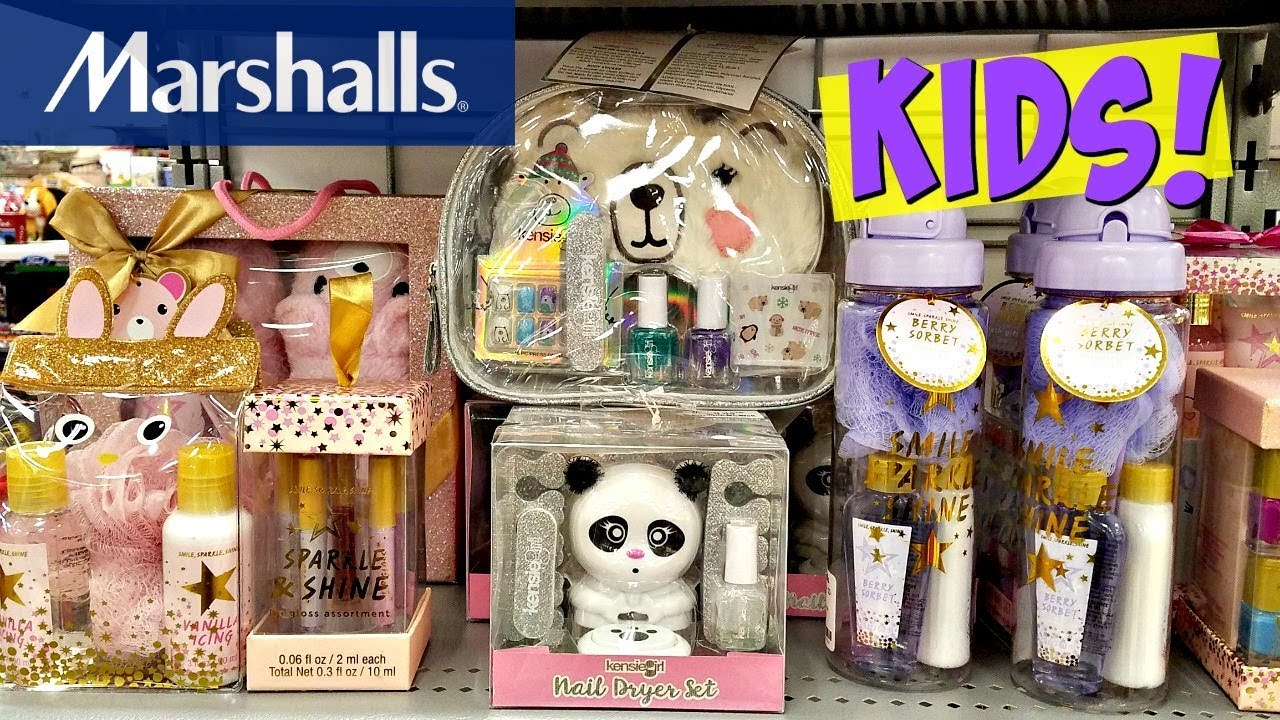SHOP With ME! Marshalls Kids Nail art Kits, lip balm 2017 - YouTube