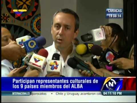 Ministro Fidel Barbarito tras reunión de ministros de Cultura del Alba