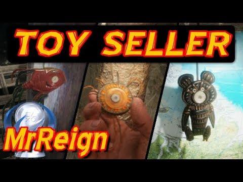 Metro Exodus - Toy Seller Trophy Achievement - Fish - Sun - Teddy Bear Locations