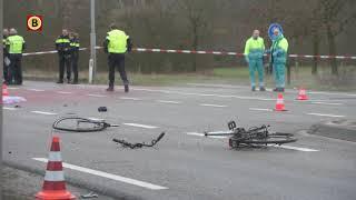 De fietser werd aangereden bij het oversteken van de Kempenweg in Oirschot