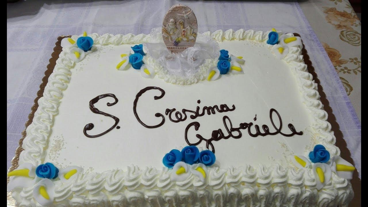 Torta cresima youtube for Decorazioni torte per cresima