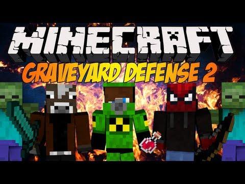 Minecraft: Graveyard Defense 2 - Blow i Multi mnie opuścili :(