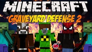 Minecraft: Graveyard Defense 2 - Blow i Multi mnie opuścili :(