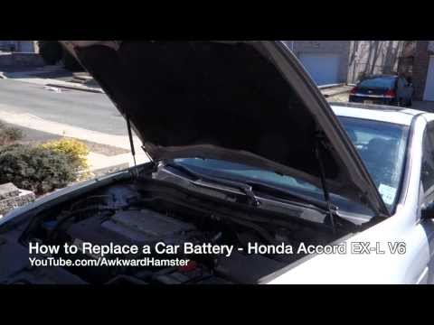 How to Replace a Car Battery - Honda Accord EX-L V6
