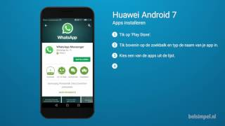 Tips & Tricks - Huawei smartphone: Apps installeren (Android 7)