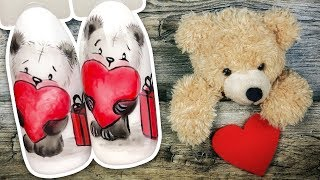 Романтичный Дизайн с Медвежонком к Дню Святого Валентина Маникюр на 14 Февраля Patrisa Nail