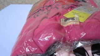 Посылка из Китая № 23 костюм детский трикотажный Minny Mouse обзор распаковка