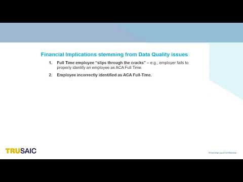 Why Does Data Quality Matter - Webinar - Trusaic