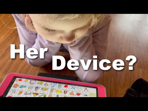 Autistic 4 Year Old Gets an AAC Device| DITL
