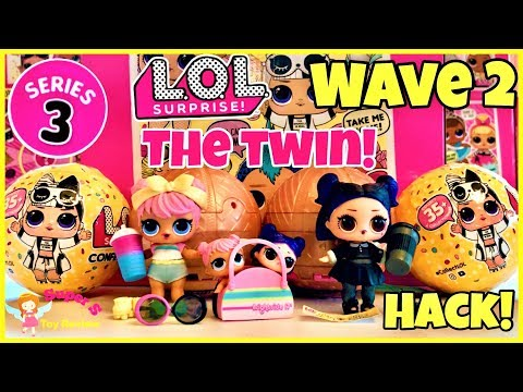 LOL SURPRISE WAVE 2 CONFETTI POP ULTRA RARE Twins LIL DAWN & DUSK! LABEL HACK WITHOUT TORCH!