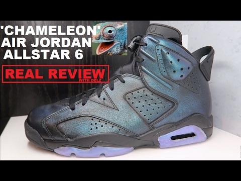Air Jordan 6 Chameleon Allstar AS Retro Sneaker REAL HONEST REVIEW +  Comparison with 1's - YouTube