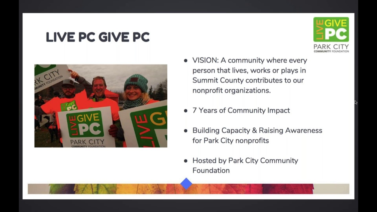 Nonprofit Toolkit | Live PC Give PC 2018