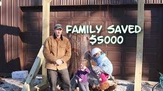 Family saved $5000 building our own own gantry crane lift! See how!
