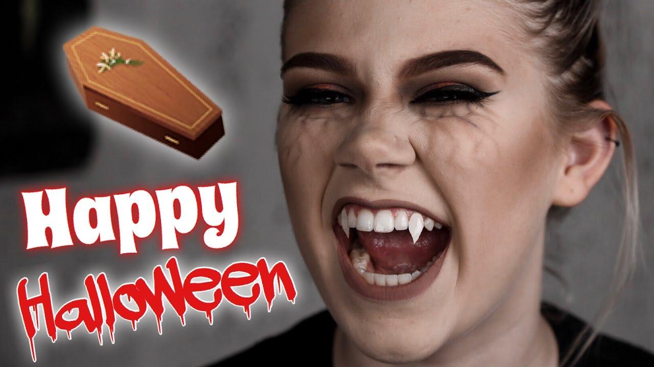 Vampire Diaries INSPIRED Halloween Makeup Tutorial | Kaleigh Renee ...