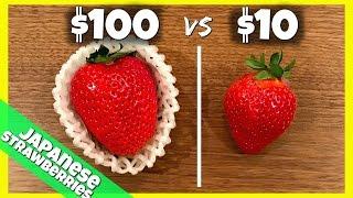 $100 vs $10 Strawberries (from Japan)