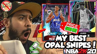 I USED THE BEST GALAXY OPALS I SNIPED ON THE NO MONEY SPENT SQUAD FOR A NEW TEAM IN NBA 2K20 MYTEAM