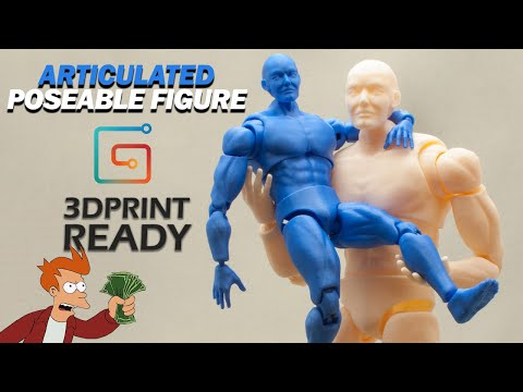 Articulated Poseable Figure - 3DPrint Ready - Gumroad