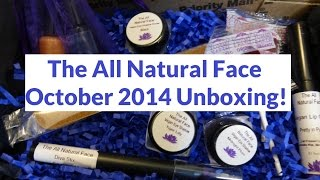 The All Natural Face - October 2014 Unboxing! (My Last Box) Thumbnail