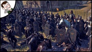 Aragons Last Stand! 8000 Gondor v Mordor Siege Battle - Rise of Mordor Gameplay Total War Atilla Mod