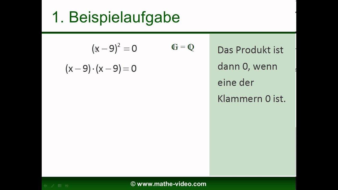 Gleichungen verknüpfen mit der oder-Verknüpfung (Stufe 8) - YouTube