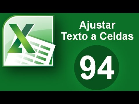 Tutorial Excel (Cap. 94) Ajustar Texto a Celda