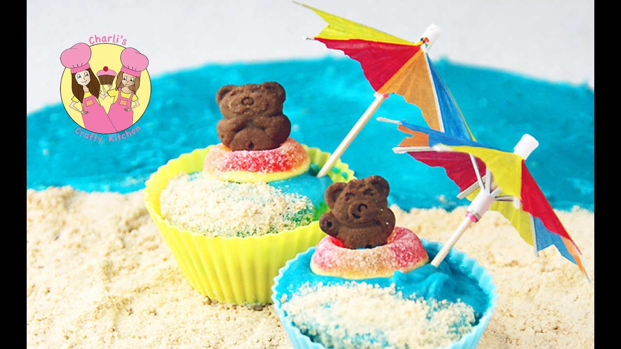 Teddy graham cupcake summer beach theme party by ashlee for Summer beach decor