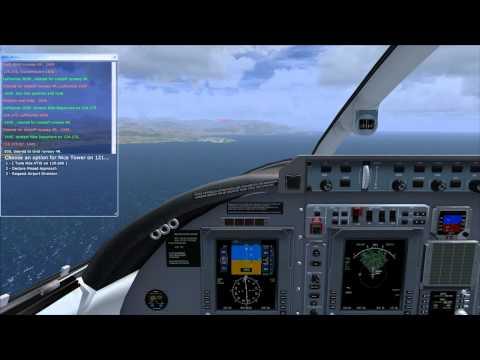 FSX Avanti Landing at Nice