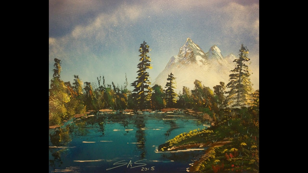Mountain Landscape Acrylic Paintings