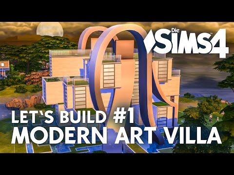 Die Sims 4 Let's Build Modern Art Villa #1 | Haus bauen mit Zeit für Freunde (deutsch)