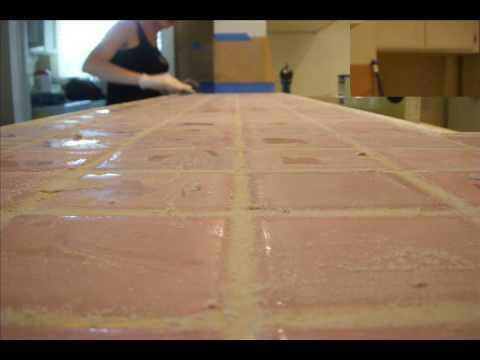 Countertops Refinished With Skimstone Youtube