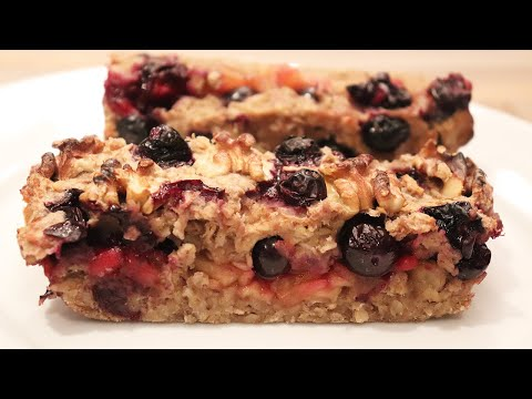 [recette-vegan]-gâteau-aux-flocons-d'avoine-et-fruits-/-(오븐)-고소한-영양-오트밀-케이크