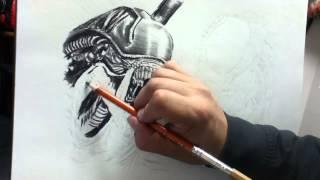 Alien vs Predator Speed Drawing