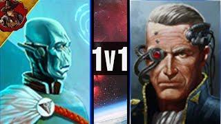 Imperial Navy vs Tau   1v1   Battlefleet Gothic Armada 2