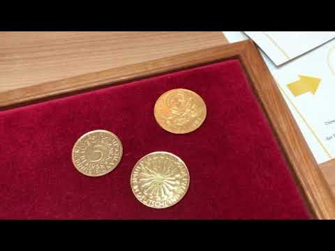 Was Hat Es Mit Goldenen Euro Und Dm Mark Münzen Auf Sich Welchen
