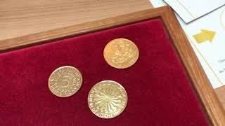 Was hat es mit goldenen EURO- und DM-Mark-Münzen auf sich? Welchen Wert haben sie?