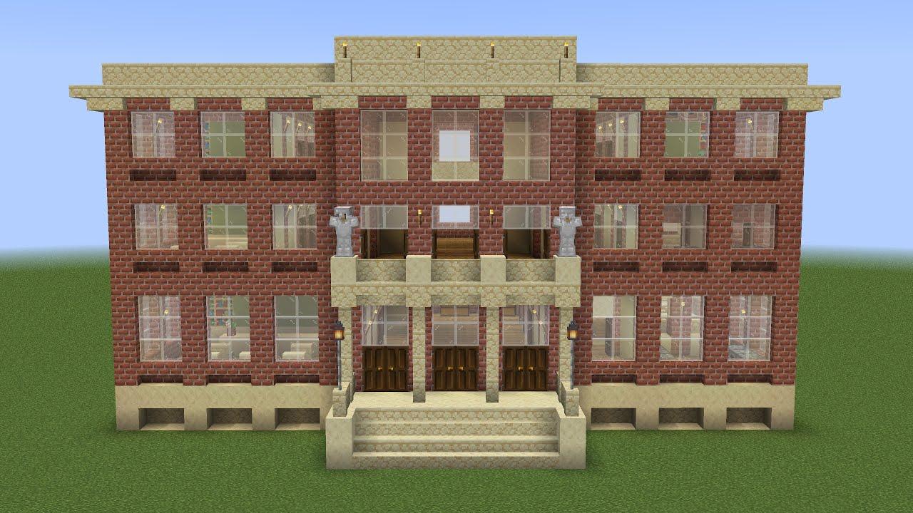 Minecraft - How to build a school (monster school)