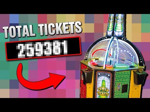 WINNING ALL THE ARCADE TICKETS IN LESS THAN 10 MINUTES!!