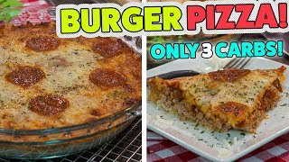 Low Carb BURGER KETO PIZZA Recipe