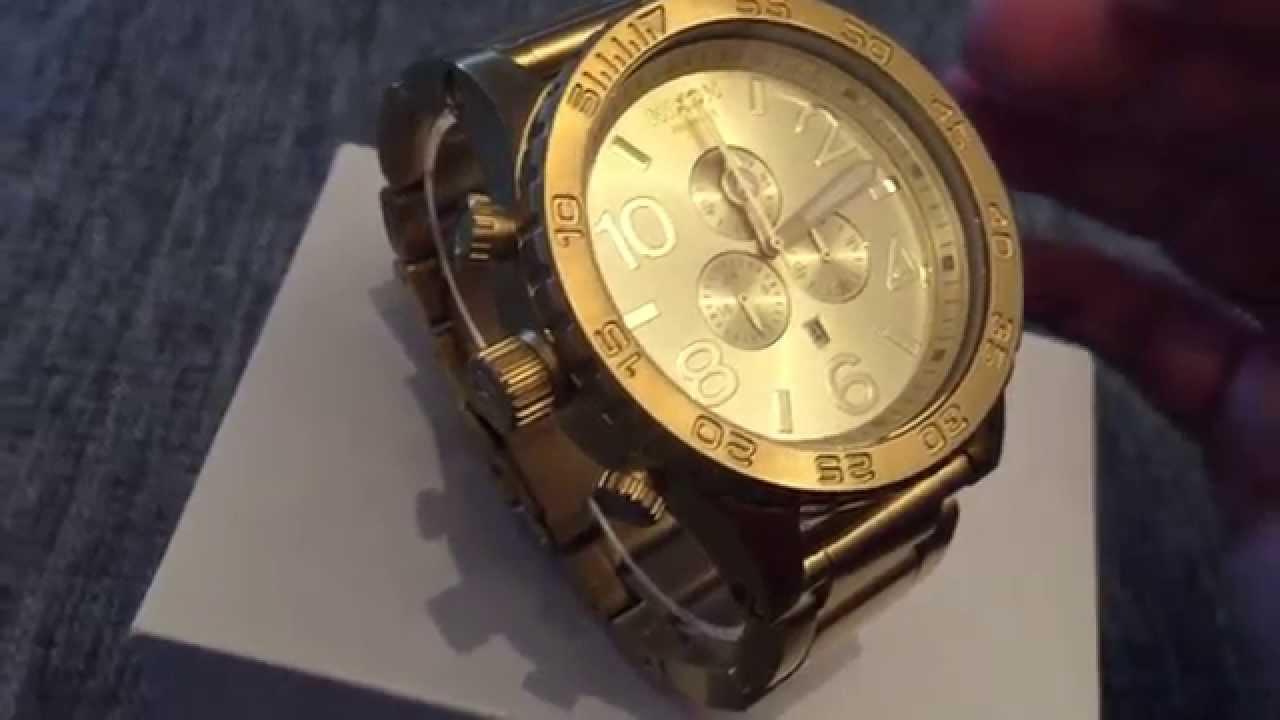 Nixon 51-30 chrono All Gold. Review - YouTube 5b5fefba67