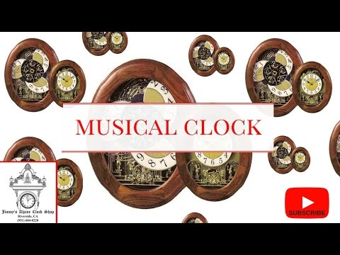 BEAUTIFUL WOOD CLOCK OPENS & PLAYS MUSIC HOURLY - FAMILY ENTERTAINMENT