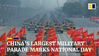 China's largest military parade marks National Day