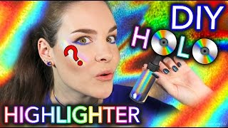 DIY 100% PURE HOLO HIGHLIGHTER TEST *not clickbait*