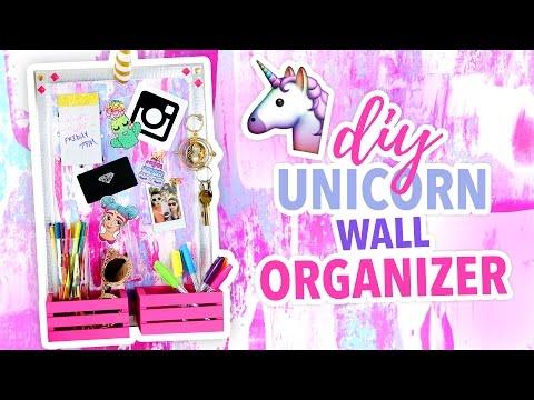 DIY ~UNICORN~ Wall Organizer - Cute Room Decor   @karenkavett