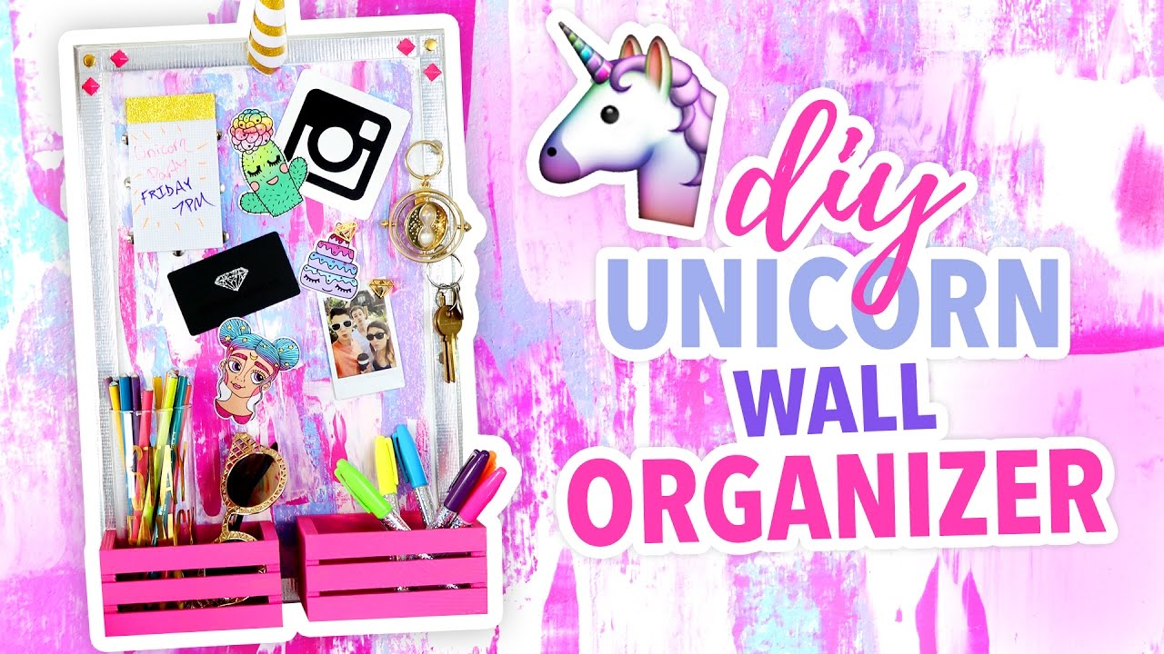 Diy Unicorn Wall Organizer Cute Room Decor