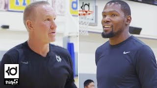 Racks Kevin Durant Shooting Contest with Chris Mullin