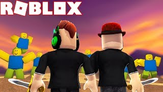 STAND AGAINST ARMIES OF NOOBS in ROBLOX NOOB INVASION TYCOON