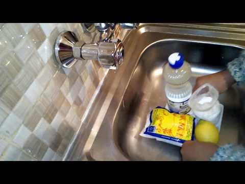 طريقة حل انسداد حوض او بلاعة المطبخ والحمام بسهولة وباقل مجهود بمكونات بسيطة