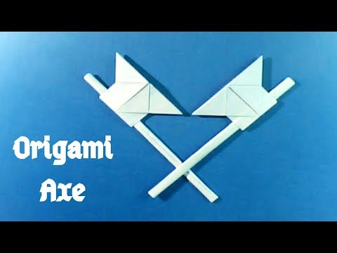 কাগজের কুঠার || How to make a paper axe (Origami) || Tutorial #165