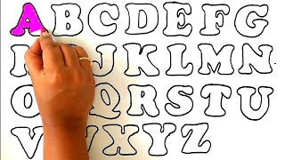 Learn ABC With Nursery Rhymes For Children || ABCD Colouring Pages For Kids|| ABCD