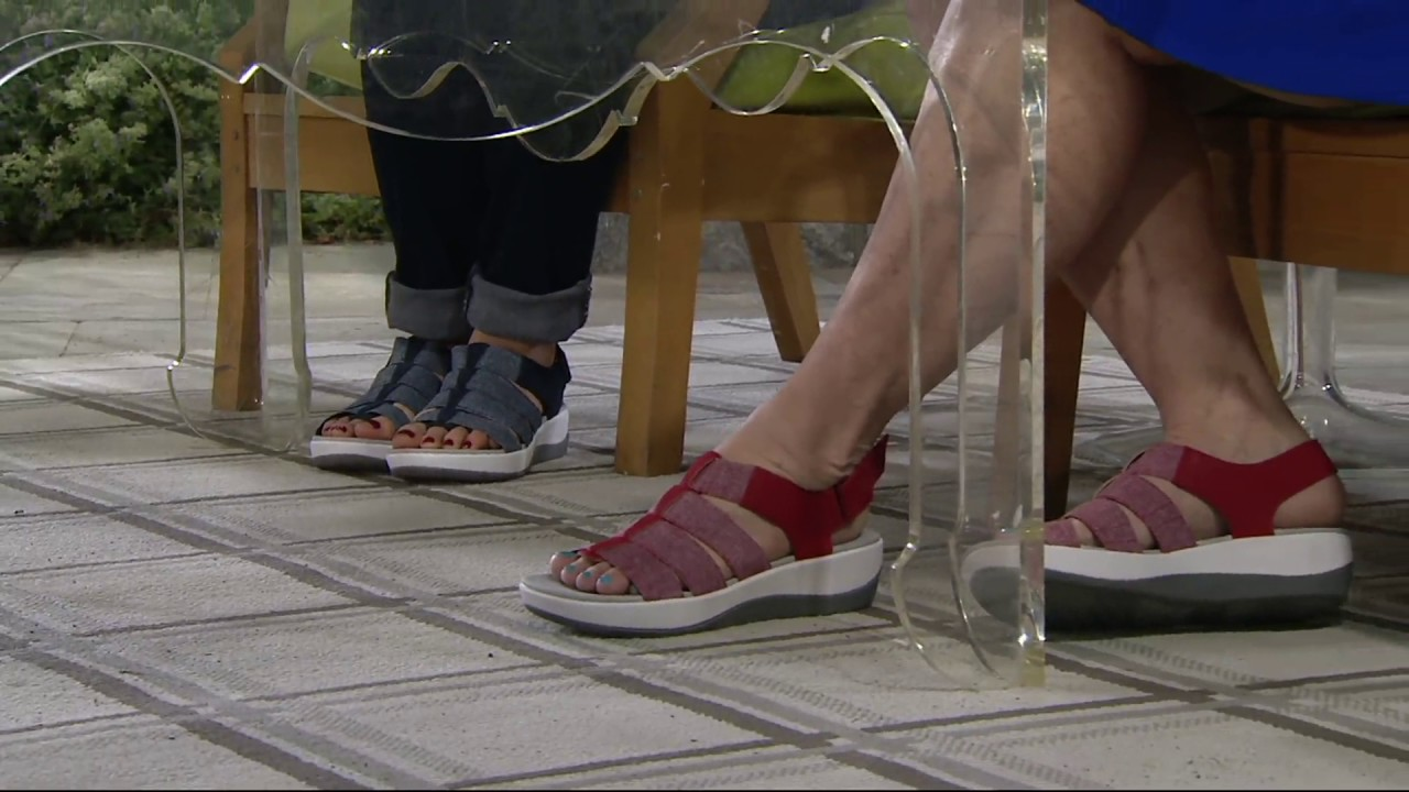 e19a6fe1969 Clarks Cloud Steppers Sport Sandals - Arla Shaylie on QVC - YouTube